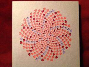 Layered Paper Heart Spirals