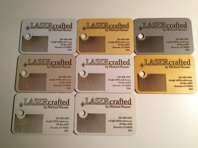 Upcycled Laminate Sample Business Cards